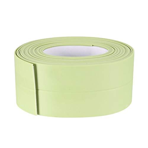 Uxcell Cinta autoadhesiva flexible para baño, inodoro, cocina y sellado de pared de 10,5 pies de longitud, 38 mm de ancho (verde, 3 unidades)
