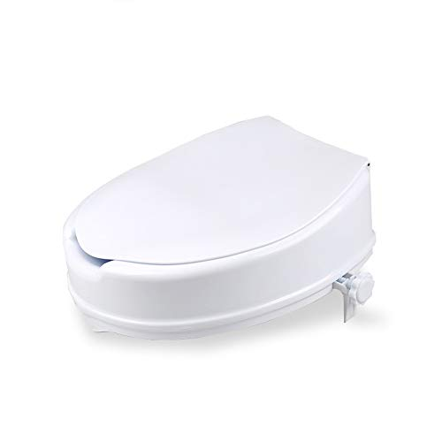 Verhoogde toiletbril Draagbare postoperatieve gehandicapte ouderen, veilige verhogende toiletverhoger met armsteun met deksel