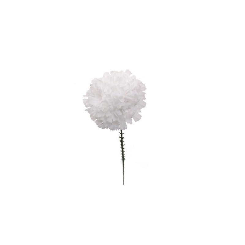 "silk flower arrangements larksilk white silk carnation picks, artificial flowers for weddings, decorations, diy decor, 1000 count bulk, 3.5"" carnation heads with 5"" stems"