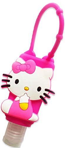 Halafs Hello Kitty PVC Designed Silicone 1 Oz Travel Size Pocketbac Lotion Hand Gel Sanitizer Holder Case Cover