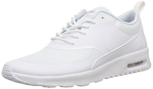 Nike Damen Wmns Air Max Thea Gymnastikschuhe - Grau (White/White/Pure Platinum 110) , 44 EU