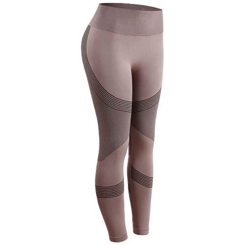 QTJY Señoras Ocio Estiramiento Push-up Pantalones de Yoga Fitness Correr Gimnasio Medias Deportivas Pantalones de Yoga de Cintura Alta sin Costuras GL