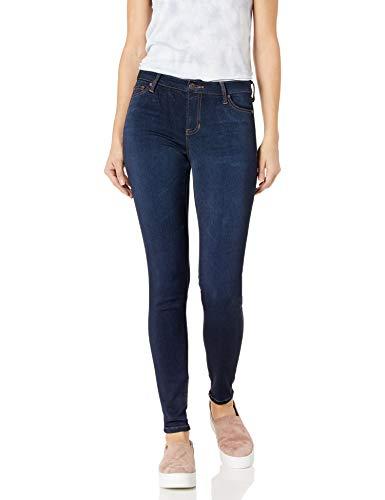 Celebrity Pink Jeans Women's Soft Mid Rise Skinny Jean, Queen Super Dark, 11
