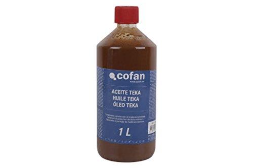 Cofan 15801025 Aceite para teka, 1 L