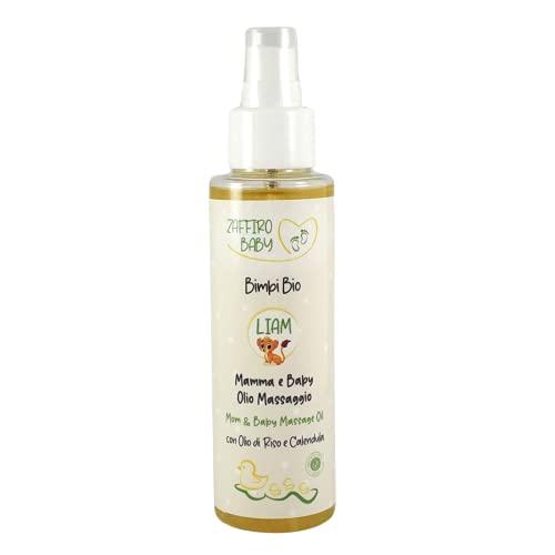 Aceite corporal Bio para madres y bebés con Aceite de arroz, Aceite de germen de maíz y Flores de Caléndula elastizante y nutritivo – Dermatológicamente testado