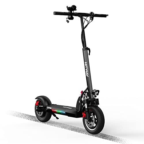 HITWAY Elektro Scooter, E-Roller mit Sitz (800W, 43km / h, max. 40 km, Faltbarer Elektroroller mit LCD-Display 10A Li-Ionen-Akku), E Scooter für Jugendliche und Erwachsene