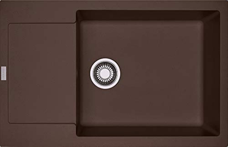 Franke Maris MRG 611-78 XL Chocolate Granitspüle Drehknopfventil Braun Abwaschbecken Küchenspüle Einbau