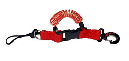 METALSUB Mosquetón en Espiral para Jacket de Buceo. (Rojo)
