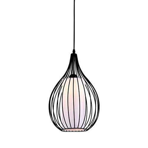 WHSS Lámparas de Chandeliers Araña De LED De Una Sola Cabeza De Hierro Corredor Bar Restaurante Hollow Industrial Chandelier Negro