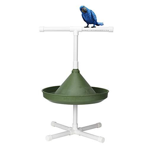 Comedero multifunción para pájaros, cuenco de agua para alimentos, 20.1x11.8x11.8in Juguete de percha para baño de pájaros, material plástico de calidad, para pájaros domésticos(Model 1)