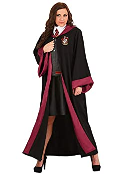 Adult Hermione Granger Costume Women s Harry Potter Gryffindor Robe for Harry Potter Cosplay 1X Black