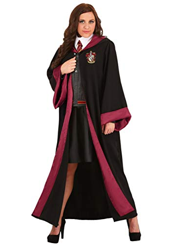 Adult Hermione Granger Costume Women's Harry Potter Gryffindor Robe for Harry Potter Cosplay 1X Black