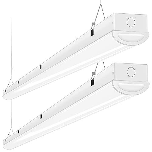 Tycholite 110W LED Shop Lights 8FT Linear Strip Light, 12000LM, 5000K LED Light Fixtures for Garage Warehouse Supermarket, 8 Foot LED Commercial Ceiling Lighting, Fluorescent Replacement, 2 Pack