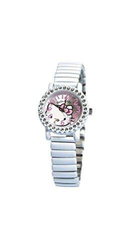 Hello Kitty zr26273 - Reloj, Correa de Acero Inoxidable Chapado Color Blanco