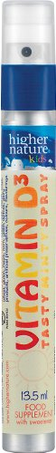 Vitamin D Spray 625iu - Higher Nature Kids Range - 1 Tube - 13ml - 240 Sprays(Approx)