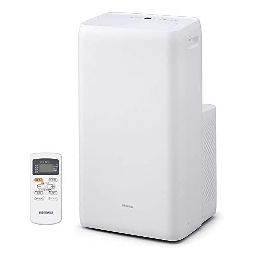 【工事不要】アイリスオーヤマ ポータブル クーラー エアコン 冷風機 7~10畳 除湿 換気 暖房機能 2021年モデル IPA-2821GH-W