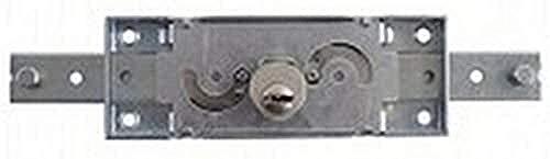 Cerradura central para persiana con llave perforada.