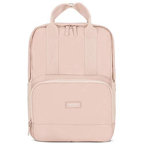 LARKSON Rucksack Damen & Herren Rosa No 6 - Moderne Rucksäcke aus recyceltem PET für Arbeit, Uni & Schule - Klein & Elegant - Wasserabweisend mit Laptopfach