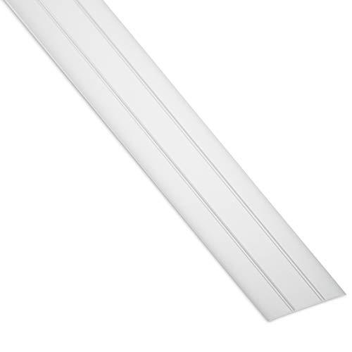 SOTECH 1 Stück Aluminium Übergangsprofil Cross selbstklebend Übergangsschiene Alu flach Boden-Leiste mit Breite 37 mm Ausgleichsprofil Silber eloxiert Abdeckleiste 100 cm Bodenprofil Schiene