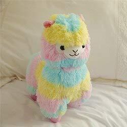 Wc-asdcc Plush Toy Rainbow Plush Alpaca Stuffed Doll Sheep Soft Toy Kids Animals Home Decorative Toy Colorful