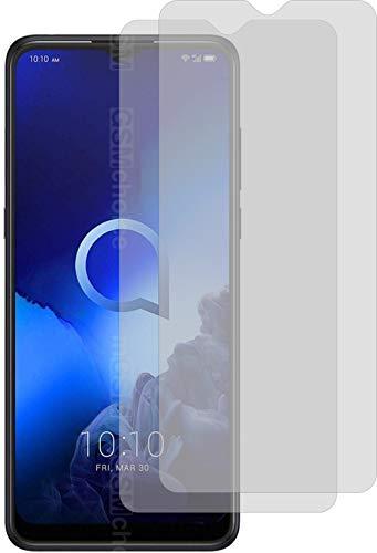 4ProTec I 2X Schutzfolie MATT passexakt für Alcatel 3X 2020 - Displayschutzfolie Schutzhülle