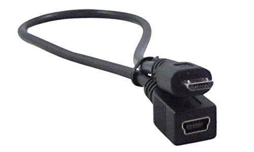 YCS basics 1 Foot USB Micro Male to USB Mini Female Adapter Cable