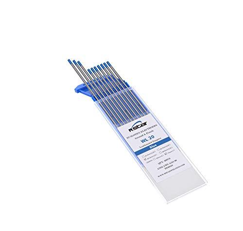WL20 TIG Soldadura Electrodos de Tungsteno Contienen 2% Lantanio (azul)electrodos de tungsteno Ø3,2X175mm 10 electrodos - No radioactivo