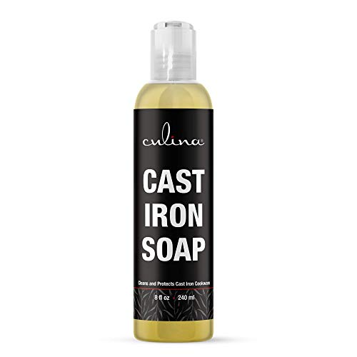 Cast Iron Cleanser by Culina® - Cleans and Protects Cast Iron Cookware, Kosher Certified 8oz