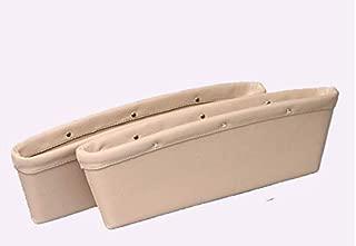 Baorio Car Seat Organizer Seam Storage Box Phone Storage Pocket Organizer Holder Universal Car-Styling Vehicle Accessories-beige