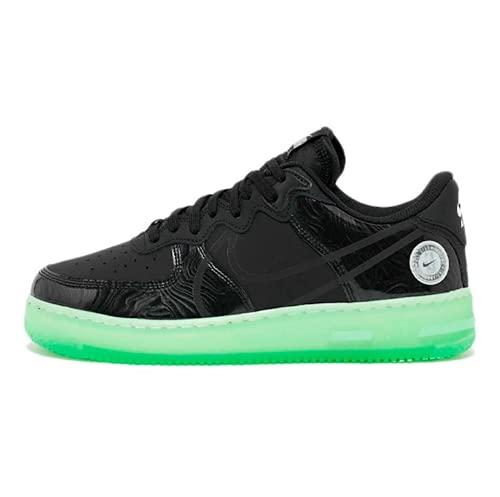 Nike Air Force 1 React LV8, Zapatillas de bsquetbol Hombre, Black Black Barely Green, 40.5 EU