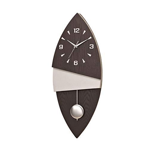 Reloj de Pared Reloj de pared creativo Reloj de péndulo grande moderno Color natural Tablero de madera Reloj de péndulo digital Estilo nórdico simple Reloj de silencio Decorativo Relojes de Pared