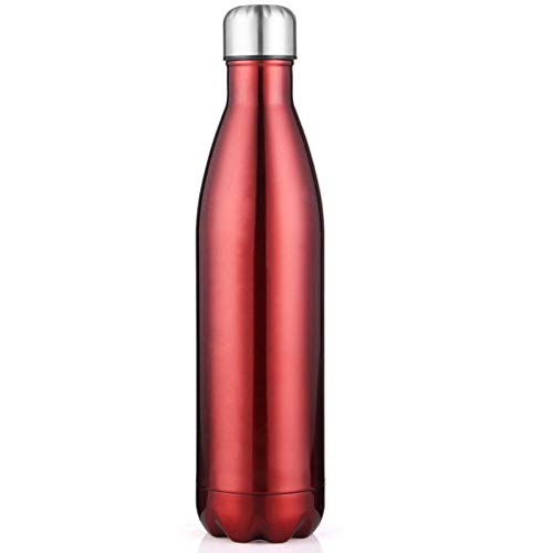 Langchao Coke Bottle Thermos Cup Double-Layer Sports Water Bottle 324 Stainless Steel Hot Selling on Amazon Bowling Cup Bright Burgundy 750ML