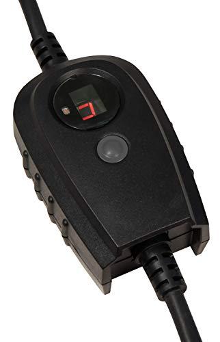 MC POWER - Zwischenstecker mit Dämmerungsschalter für Außen IP44 | Zeitschaltuhr (1-9 Std.) | für z. B. Außenleuchten, Garten-Beleuchtung, Weihnachtslichter, Lampen, uvam.