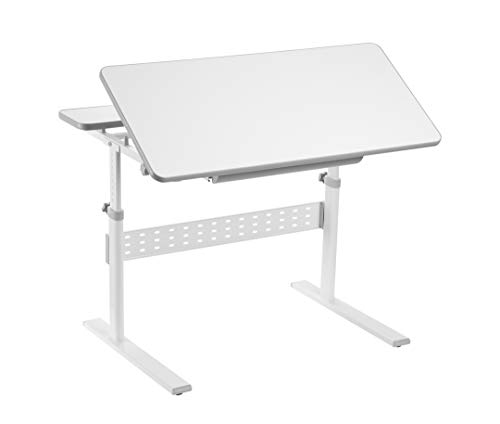 FD FUN DESK Colore Grey-Escritorio Infantil (Altura Regulable, inclinable), Gris, 950 x 660 x 540-760 mm