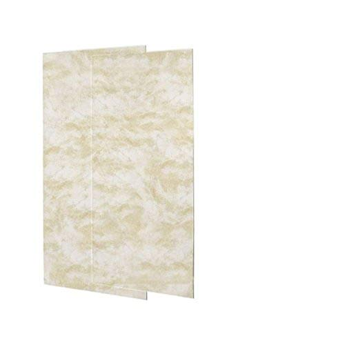 shower wall materials Swanstone SS-3696-2-125 Solid Surface Glue-Up 2-pieces Shower Wall Panel, 0.25-in L X 36-in H X 96-in H, Cloud White