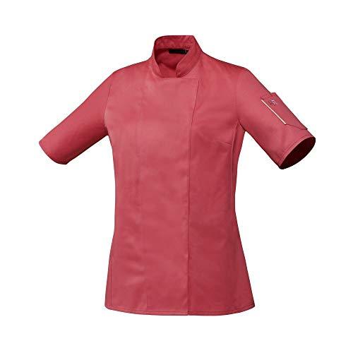 ROBUR - Chaqueta de cocina para mujer, manga corta, polialgodón