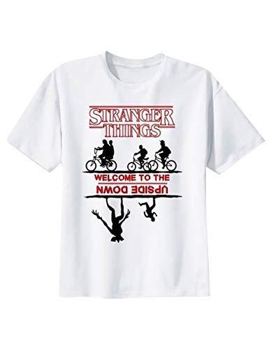 Casual Unisex Stranger Things T-Shirt per Donna Uomo,Maniche Corte Maglia con Tinta Unita Estate Maglietta Camicia Blusa Tops Tee Camicetta (17,XL)