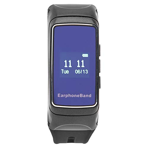 Shipenophy Reloj deportivo inteligente recordatorio de llamada entrante reloj inteligente Bluetooth auriculares pulsera despertador mejora la calidad del sueño para rastrear tus actividades diarias