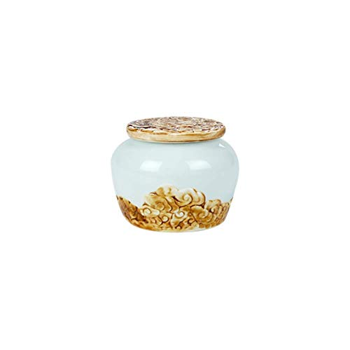 Mini Cremation Urns Pet Cremation Urns For Human Ashes Adult - Urns For Ashes - For Funeral,Ceramic Moisture And Rustproof,handcrafted Keepsake,suitable For A Small Amount Of Ashes Xiangyun Anti-stone