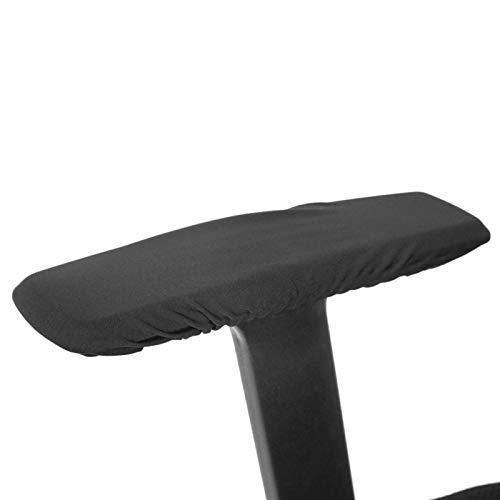 Niiyen Funda para sillón, 1 par de Fundas extraíbles para reposabrazos para sillas, Protector elástico, Funda para sillón de Oficina con Material de poliéster para Uso en Las Cuatro Estaciones(Negro)