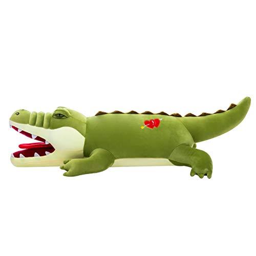 Tenacitee Long Animal Plush Toy, Stuffed Animal Toy Plush Pillow Soft Waist Cushion, Animal Pillow Home Room Ornament, Kawaii Animal Plush Doll Holiday Birthday Gift (Crocodile 31.5in)