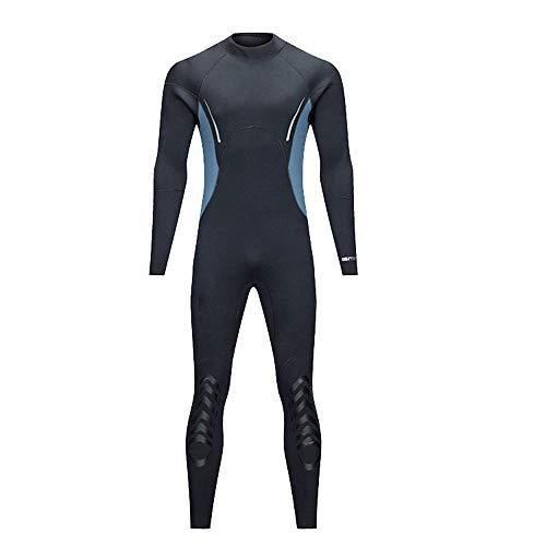 Wetsuit 5mm Gummi Taucheranzug Erwachsene Männer Nasse Kleidung Surfen Schwimmen Kanu Kajak Fahren Herren Tauchanzug (Farbe : Schwarz, Größe : XXL)