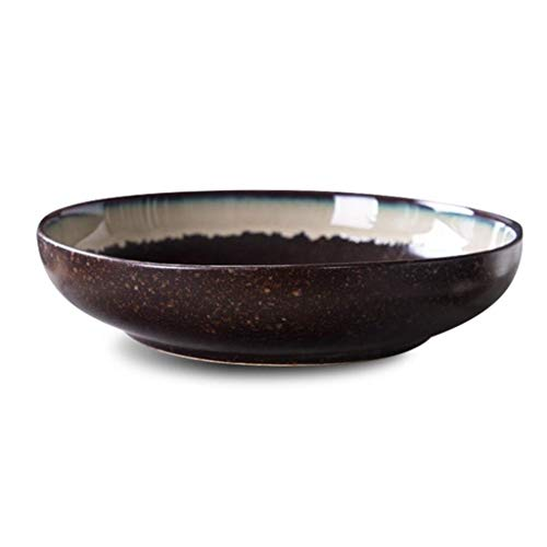 YAeele Cuenco de cerámica Cuenco de cerámica tazón de Sopa de Pescado hervido Pescado en escabeche tazón de Fuente Grande tazón de Sopa de Cangrejo de río crisol de la Sopa Deep Dish