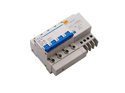 OIASD Interruptor trifásico de Cuatro Cables DZ47LE 4P Interruptor de Aire con Protector de Fugas 380V, 16A