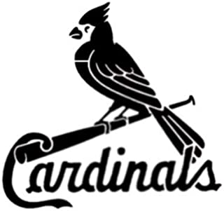 Harissa St. Louis Cardinals 11'', x 8.5'', Custom Stencil Fast Reusable, Sturdy, Cut Stencil Sheet (not Paper)