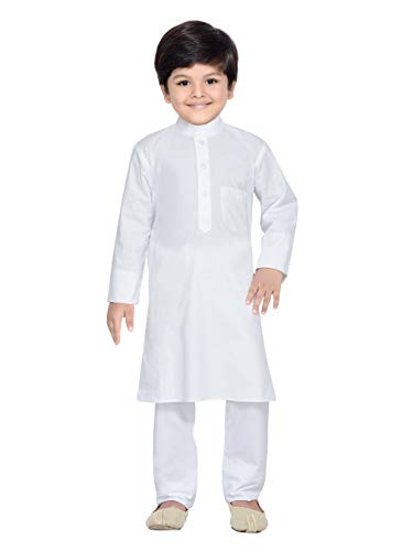 Royal Kurta AJ Dezines Kids Indian Kurta Pyjama for Boys (687-WHITE-22)