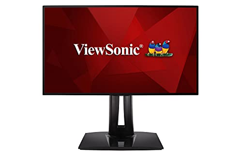 Viewsonic ColorPro VP2458 60,5 cm (24 Zoll) Fotografen Monitor (Full-HD, IPS-Panel mit Delta E<2, 100% sRGB, USB 3.1 Hub, Höhenverstellbar, 5 Jahre Austauschservice) Schwarz
