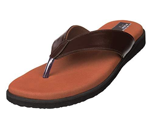 Dr Chappal Men's Brown PU Mcr/Mcp Flip-Flops for Orthopedic and Diabetic (8)