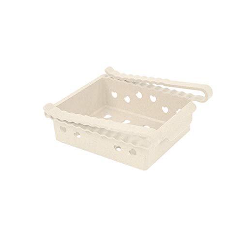 IENPAJNEPQN 2L refrigerador almacenaje estantería Estante de Alimentos Organizador de la Caja de la Caja del cajón extraíble Camping Picnic (Color : White)