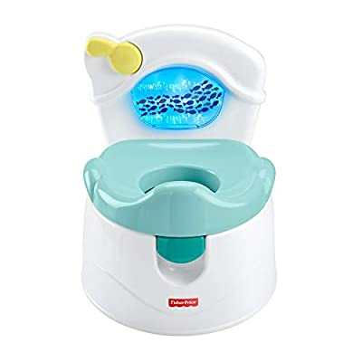 Fisher-Price Sea Me Flush Potty, Training Chair with Music and Lights for Infant and Toddler from Fisher-Price
